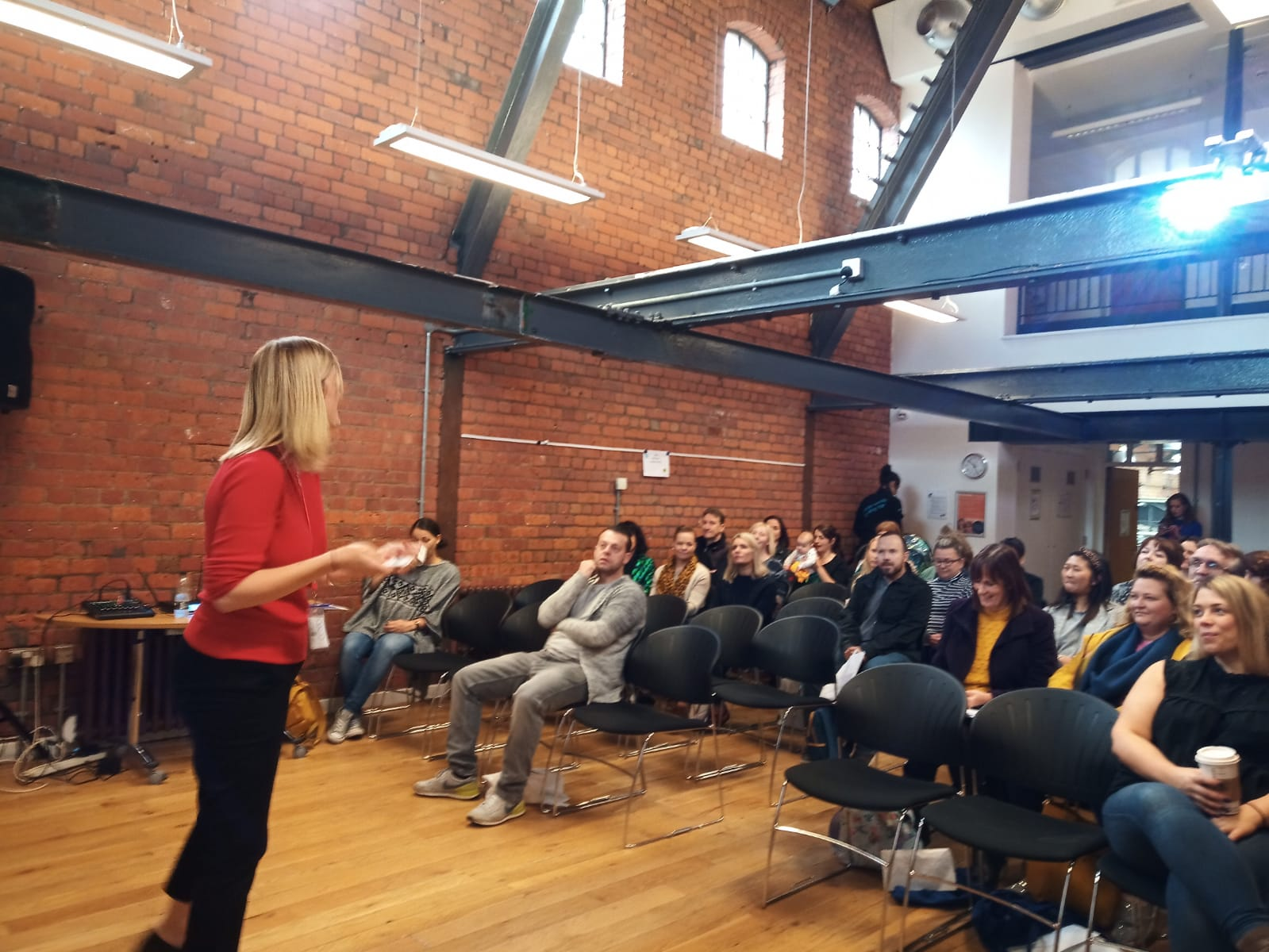 Kathryn Grice talking to attendees at the Manchester Teacher Empowerment Event 2019