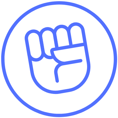 The Teacher Empowerment Project Logo - purple fist in circle